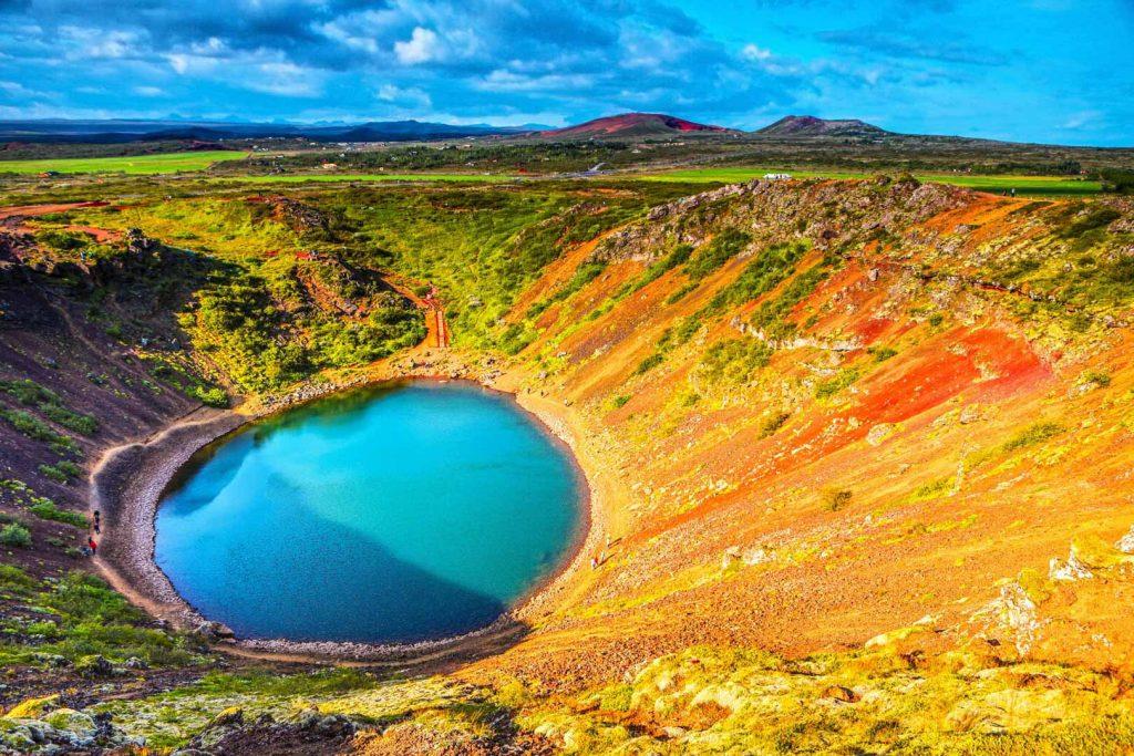 Midnight Sun Iceland Tour Kerid Volcanic Crater