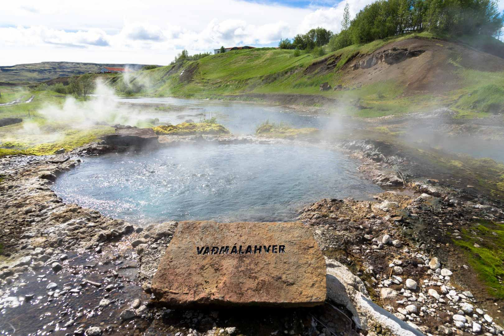 Hot Spring By The Secret Lagoon On The Golden Circle In Iceland