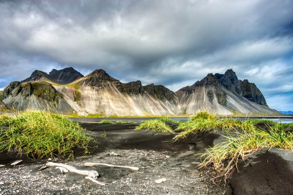 Beautiful View Of Vestrahorn Mountain in East Iceland